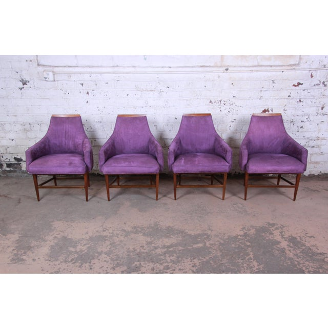 Kipp Stewart for Directional Mid-Century Modern Lounge Chairs, Pair For Sale - Image 10 of 13