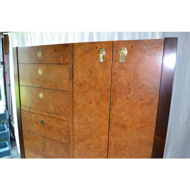 Burlwood 1970s Chinoiserie Century Furniture Olivewood Dresser For Sale - Image 7 of 12