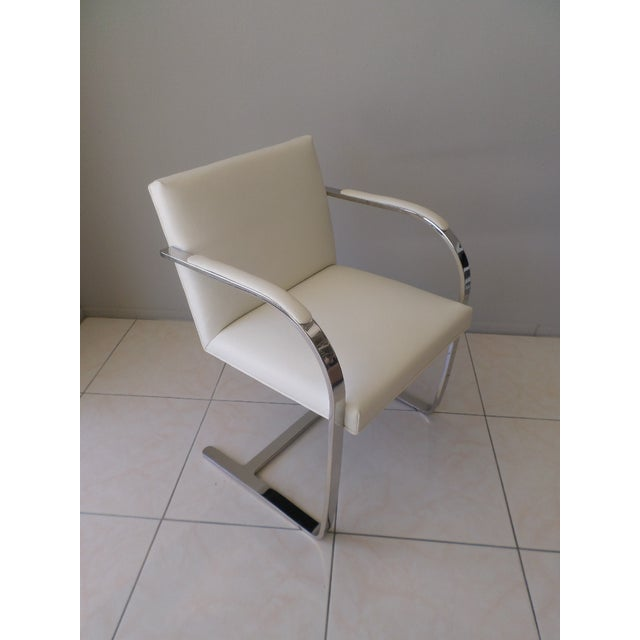 Brueton Stainless Steel and Leather Brno Chairs - Set of 6 For Sale In Palm Springs - Image 6 of 10