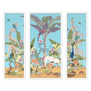 "Medium ""Palm Beach Paradise, 3 Panels"" Print by Allison Cosmos, 35"" X 30"" For Sale"