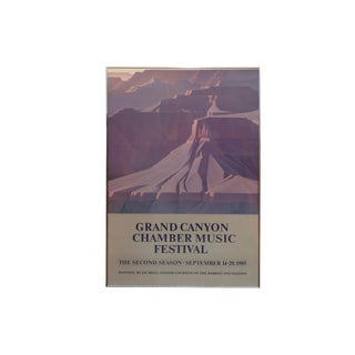 1985 Grand Canyon Chamber Music Festival Framed Poster For Sale