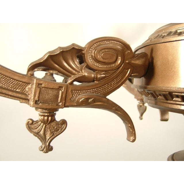 Renaissance Spelter Gas Fixture (4-Light) For Sale In Washington DC - Image 6 of 8