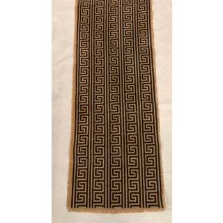 Vintage Woven Fabric With Printed Greek Key Design Preview