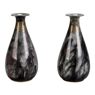 Pair of Losol Ware Keeling and Co. Art Deco Vases For Sale