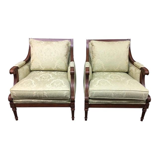 Ethan Allen Fairfax Arm Chairs - A Pair - Image 1 of 11
