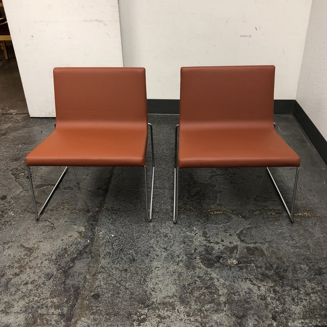 Andreu World Lineal Comfort Collection Side Chairs - A Pair - Image 2 of 7