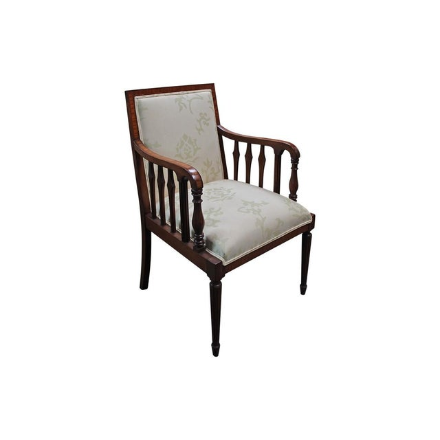 These handsome chairs nod to the elegant Federal style and come from Pasadena's noted Theadora Antiques. The frames have a...