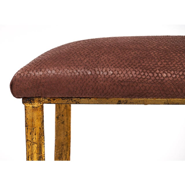 Vintage Spanish Gothic Revival Gold-Leafed Forged Iron Bench For Sale In Austin - Image 6 of 10
