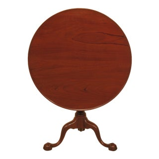 1970s Traditional Kittinger Mahogany Ball & Claw Tilt Top Table For Sale