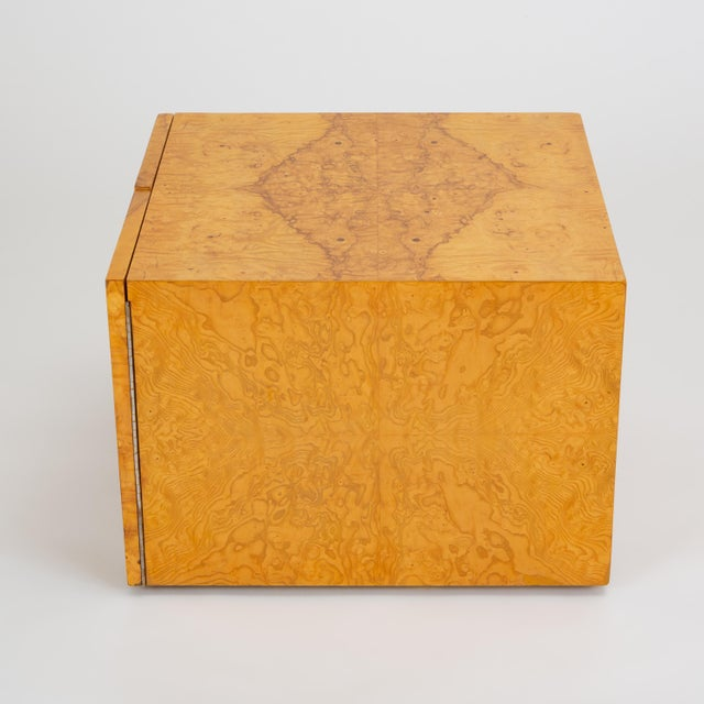 Pair of Burl Wood Side Tables or Blanket Chests For Sale - Image 9 of 13