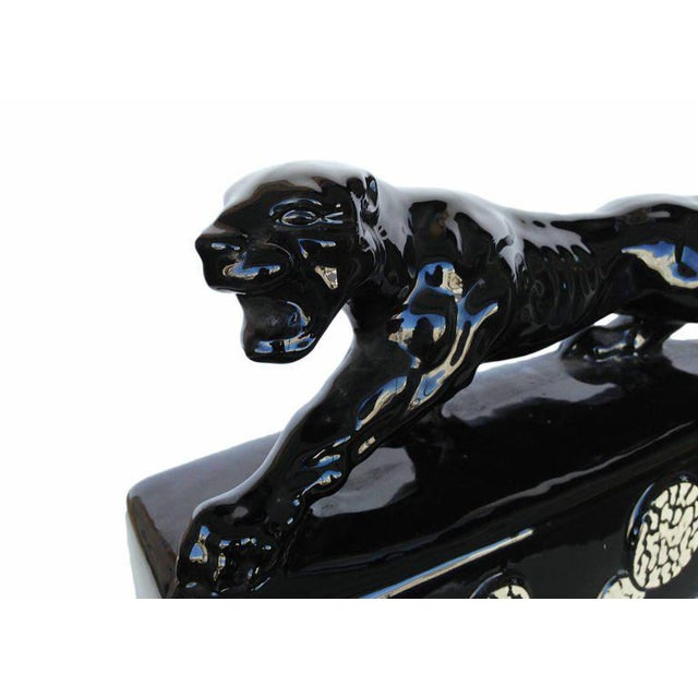 "Black Ceramic ""Sportsman Panther"" TV Lamp by Kron, 1955 - Image 6 of 8"