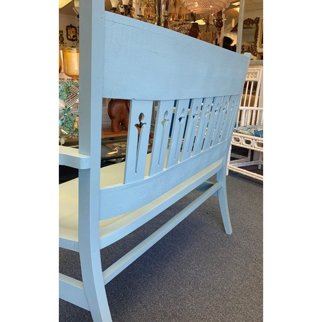1940s Vintage Farmhouse Chic Solid Oak Bench For Sale - Image 11 of 13