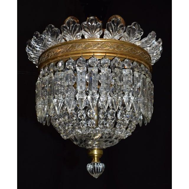 Antique lighting, Baccarat pendant - Image 2 of 6