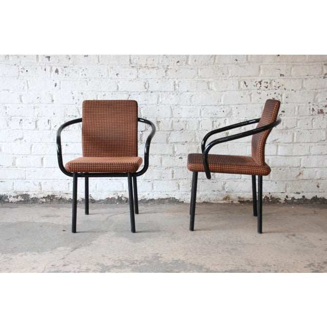 """Knoll International Ettore Sottsass for Knoll """"Mandarin"""" Armchairs - a Pair For Sale - Image 4 of 11"""