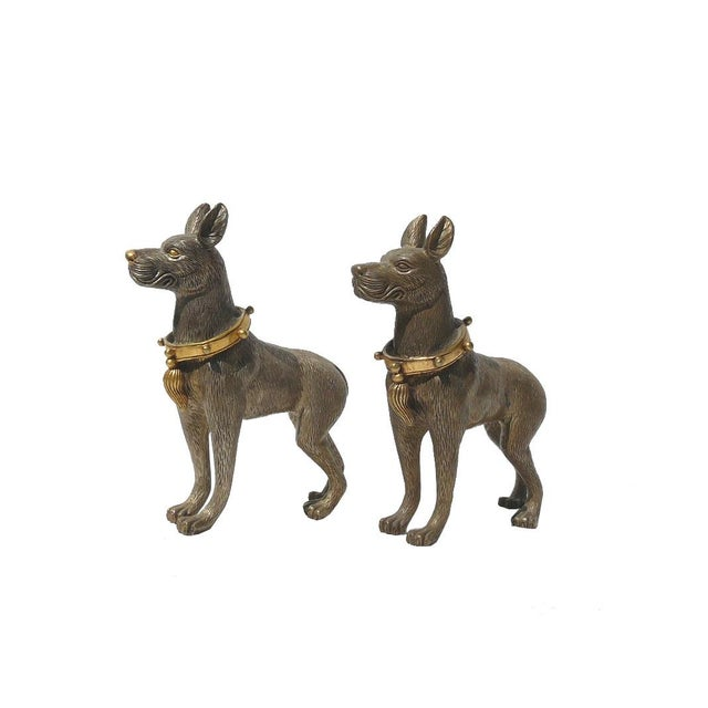 Metal Mini Table Top Dogs Figure - Pair - Image 2 of 5