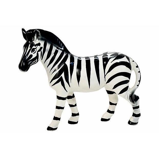 Italian Handmade Zebra Figurine For Sale - Image 9 of 9