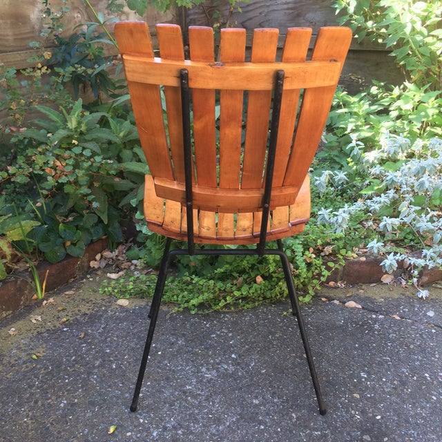 1950s 1950s Vintage Umanoff Slat Dining Chairs- Set of 6 For Sale - Image 5 of 13