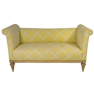 1940s Vintage French Settee For Sale