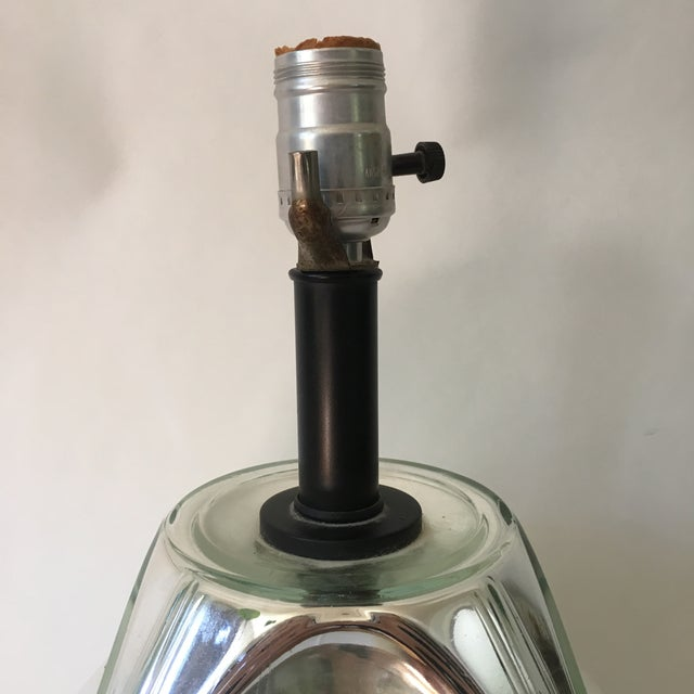 1960s Mid-Century Mercury Glass Lamp For Sale - Image 5 of 6