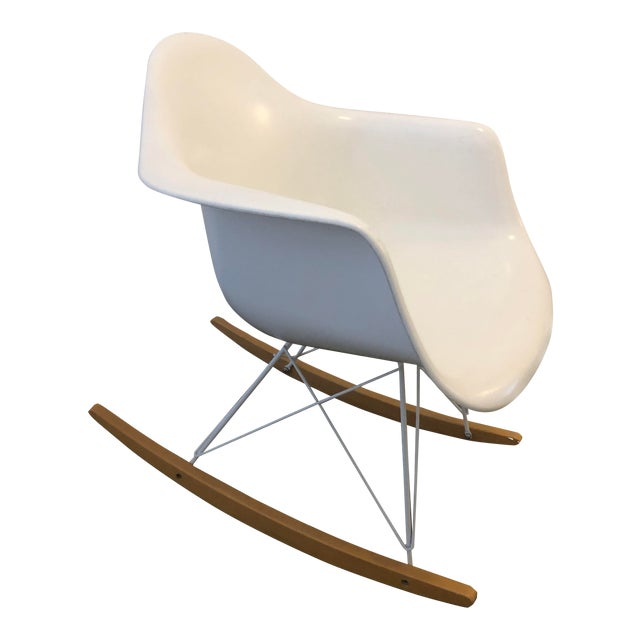 Modernica White Rocking Chair For Sale