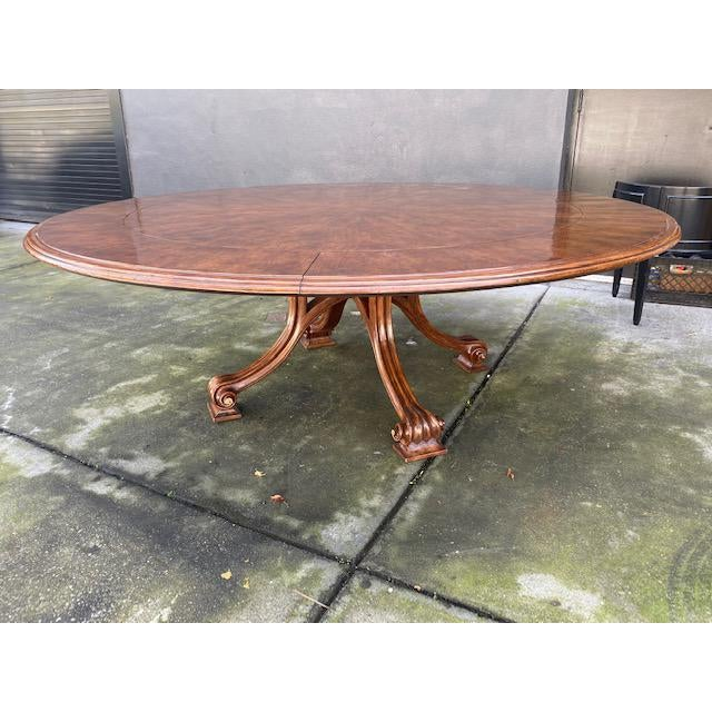1970s 1970s Thierin Round Dining Table With Leaves For Sale - Image 5 of 13