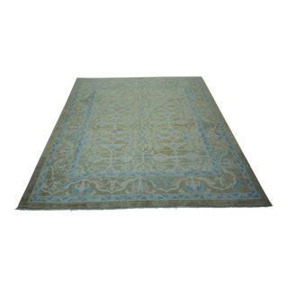 Turkish Oushak Hand-Knotted Wool Rug - 8′3″ × 9′10″