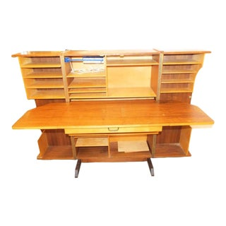 Danish Modern Wooten Style Secretary Desk For Sale