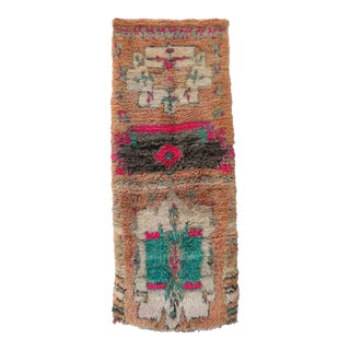 1990s Vintage Boujad Moroccan Runner For Sale