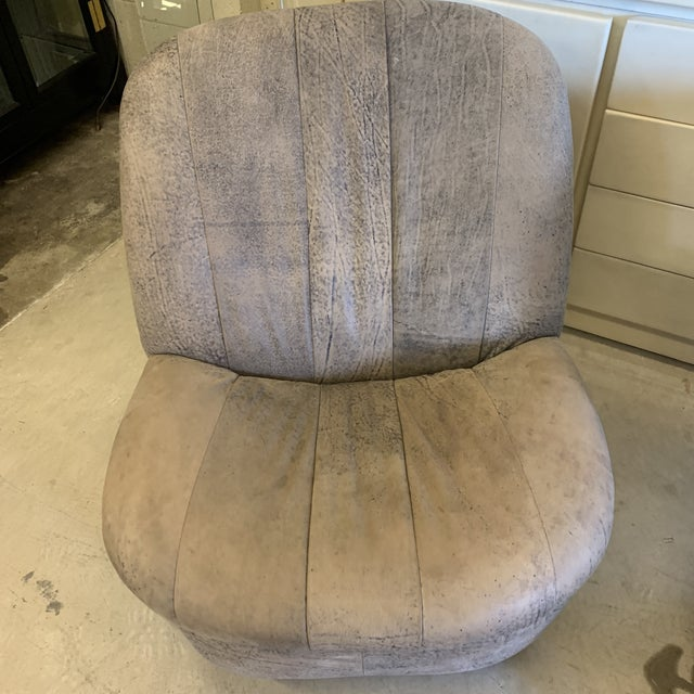 Leather Kagan Style Leather Swivel Rocker Chairs - a Pair For Sale - Image 7 of 13