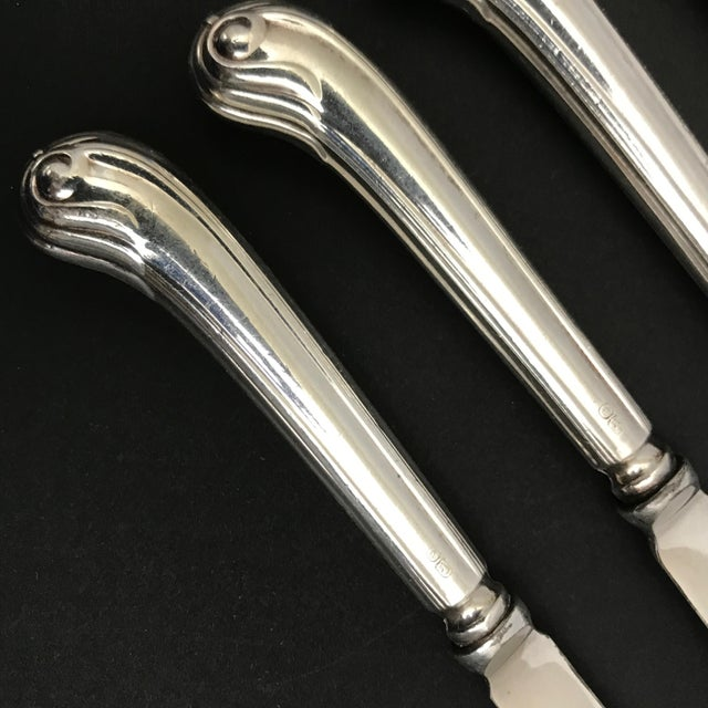 English Sterling Dessert Knives - Set of 6 - Image 4 of 5