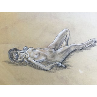 Double Sided Mid Century Study of a Nude For Sale