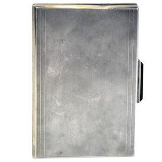 Art Deco Sterling Silver Cigarette Case or Wallet For Sale