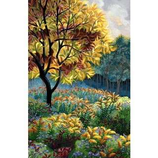 """""""Yellow Tree"""" Contemporary Landscape Giclee Reproduction by Wynn Yarrow For Sale"""
