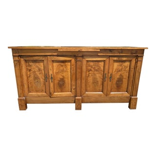French Empire Period Walnut Sideboard For Sale