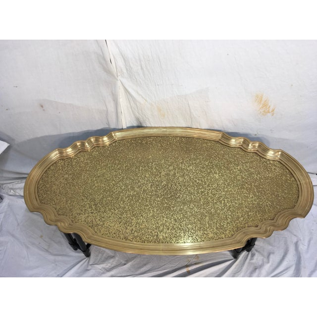 Baker Furniture Brass Tray Table - Image 3 of 10