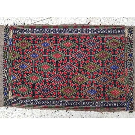 Islamic 1970s Vintage Turkish Kilim Runner Rug - 1′9″ × 13′4″ For Sale - Image 3 of 11
