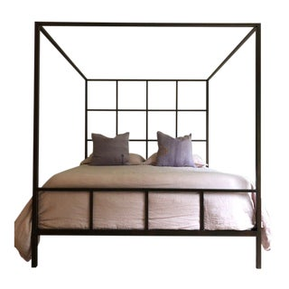 Ann Gish Steel King Size Canopy Bed For Sale