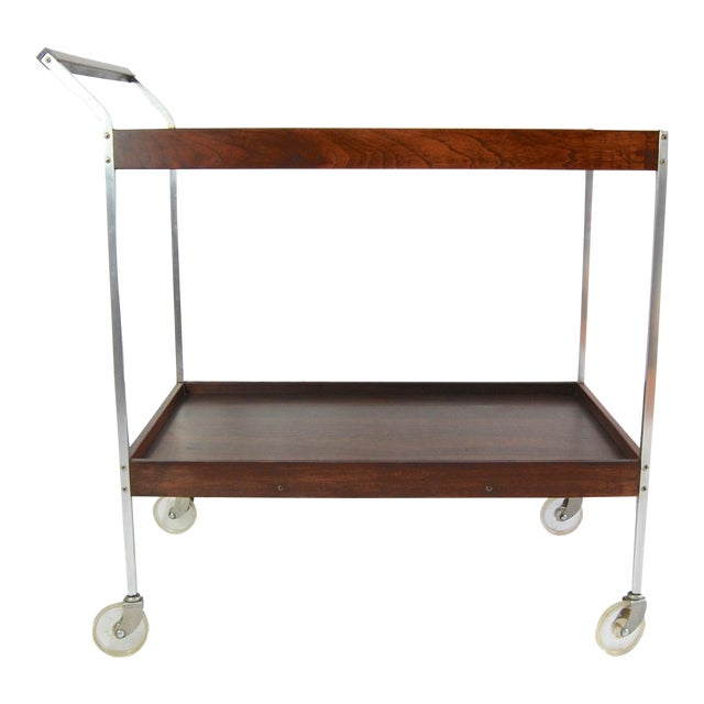 Salton Mid-Century Hot Plate Serving Cart For Sale