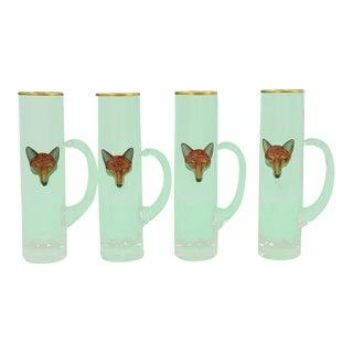 1940s Vintage Cyril Gorainoff Fox Stem Handle Goblets - Set of 4 For Sale