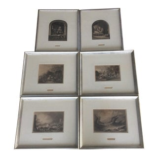 1920s Antique Nature Scene Framed Engravings - Set of 6 For Sale