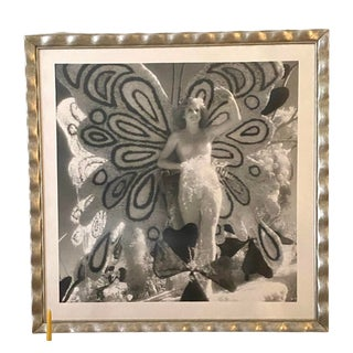 """1970s """"Rose Queen"""" Figurative Black and White Photograph, Framed For Sale"""