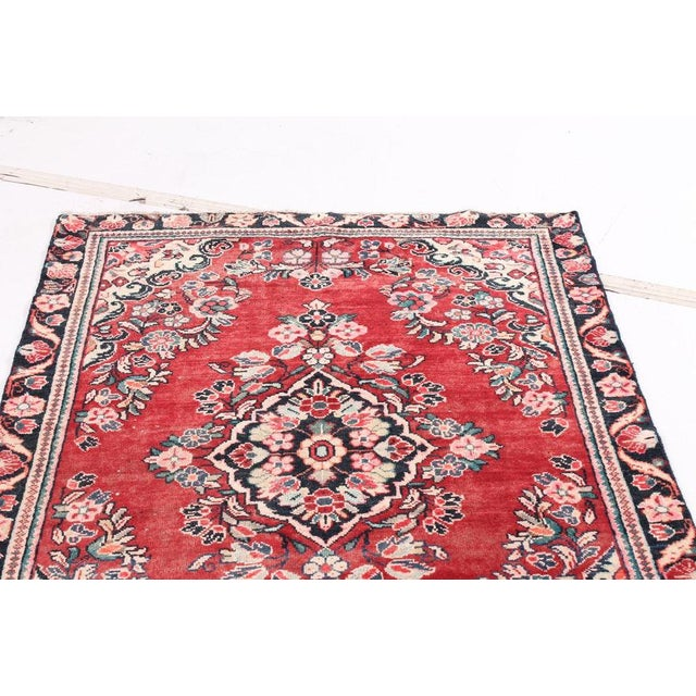 Add this beautiful vintage floral wool rug to any decor. Hand-knotted Floral Bessarabian Turkish Kilim Rose Carpet,...