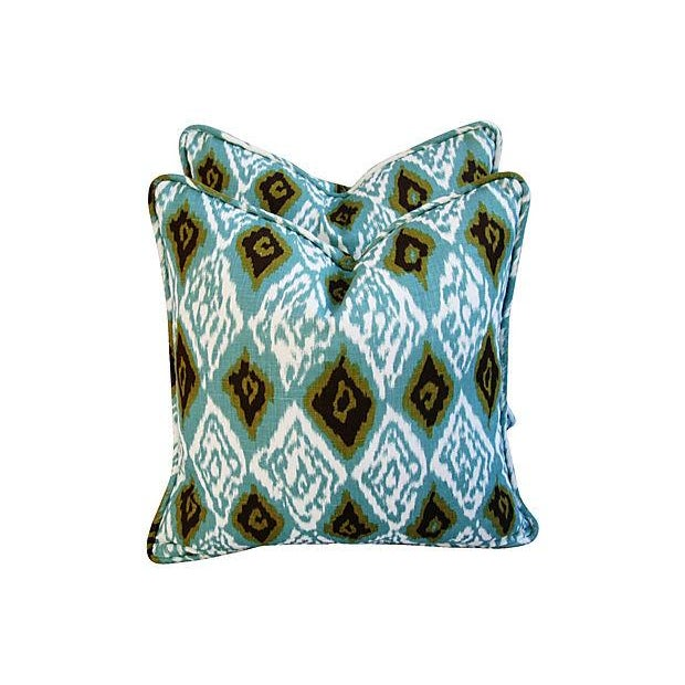 Custom Eaton Square Firebird Linen Pillows - Pair - Image 2 of 7