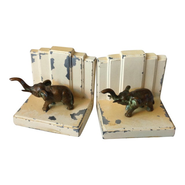 Art Deco Elephant Bookends - A Pair - Image 1 of 11