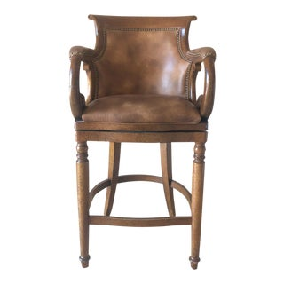 Hancock & Moore Jockey Club Swivel Stool For Sale