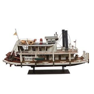 Folk Art Paddle Boat 'Arthur' of Paducah, Ky For Sale