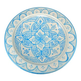Moroccan Blue and White Decorative Bowl For Sale