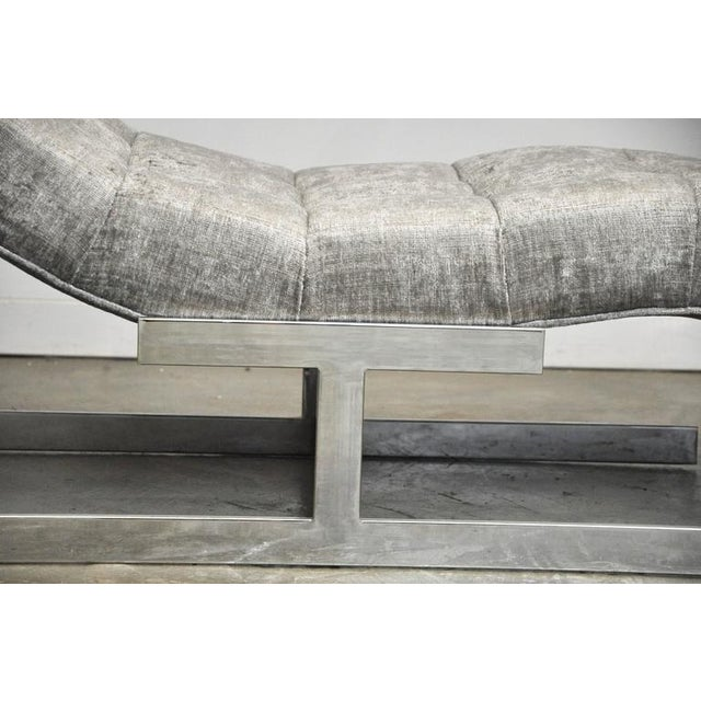 Chrome Milo Baughman Wave Chaise For Sale - Image 7 of 7