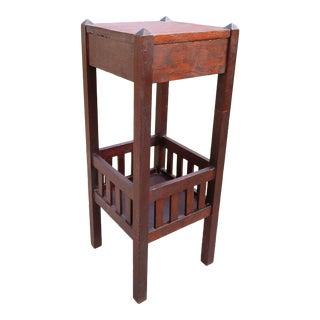Antique Arts & Crafts Mission Oak Fern Table Plant Stand For Sale