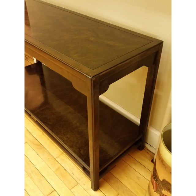 Asian Thomasville Burlwood Sofa Table For Sale - Image 3 of 6